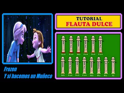 Frozen - Do You Want to Build a Snowman? - Recorder Notes Tutorial