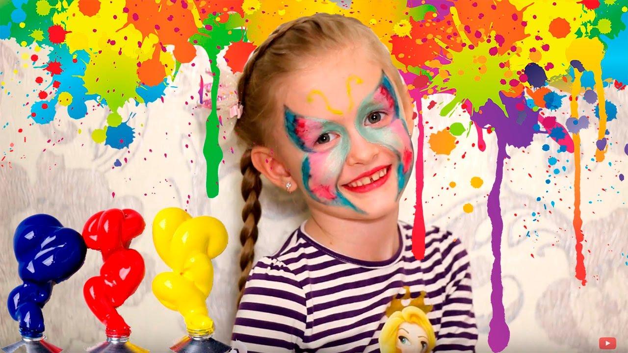 Как просто сделать краску для лица (для грима). Рецепт