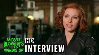 Avengers: Age Of Ultron (2015) BTS Movie Interview Scarlett Johansson (Natasha Romanoff/Black Widow)