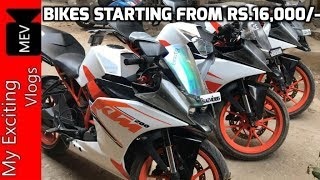 BIKES STARTING FROM RS.16,000/- (SECOND HAND BIKE MARKET - KTM, PULSAR, BULLETS, APACHE, INTRUDER )