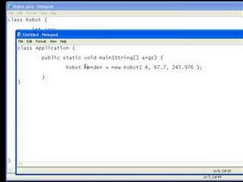 Java Video Tutorial 5: Object Oriented Programming