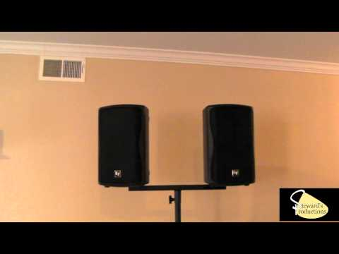 Dual Speaker Bracket Dual speaker Mount for DJ Stands - On-Stage Stands Speaker Stands.wmv