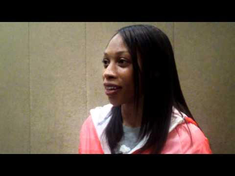 2011 USA Track &amp; Field Championships: Allyson Felix Interview