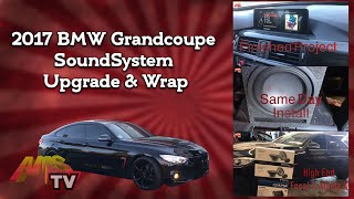 2017 BMW Grandcoupe SoundSystem Upgrade & Wrap project 394