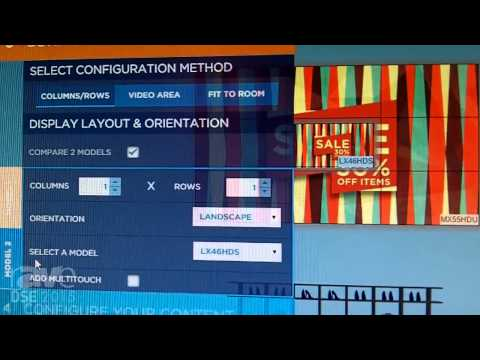 DSE 2015: Planar Demos the Clarity Matrix Video Wall Calculator, a Sales and Design Tool