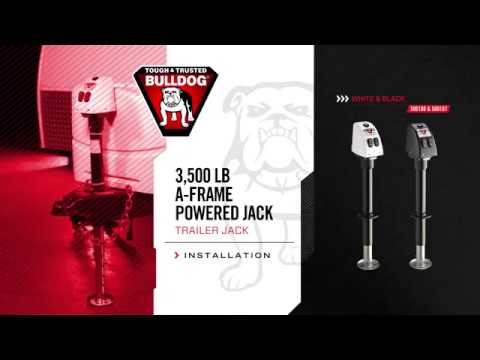 Installation: BULLDOG® 3,500lb. A-Frame Powered Jack