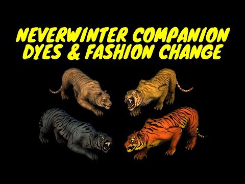 Neverwinter Companion Fashion & Dyes - Too Many Chultan Tigers & Con Artists