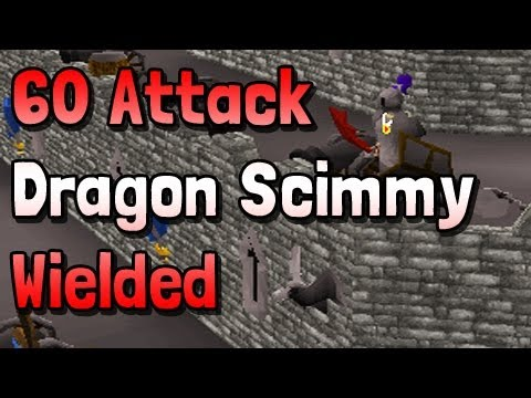 60 Attack Achieved – Dragon Scimmy Wielded! – Runescape 2007