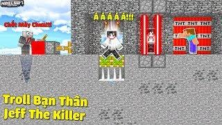 THỬ THÁCH TROLL BẠN THÂN JEFF THE KILLER BẰNG 5 CÁCH ĐƠN GIẢN TRONG MCPE | Thử Thách SlenderMan