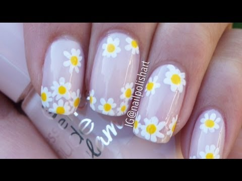 Easy Daisy Nail Art Tutorial