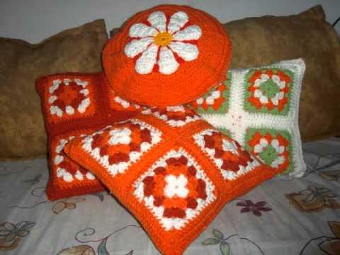Almohadones Crochet - YouTube