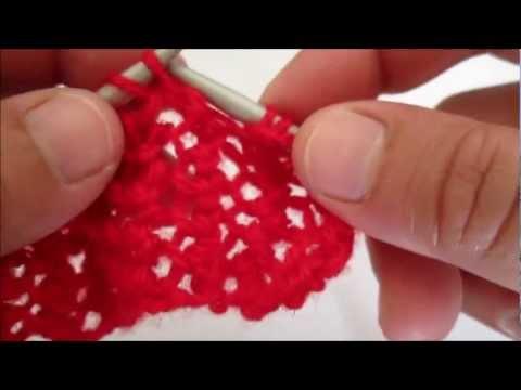 D i y tuto tricot apprendre a tricoter le point de bourse ajoure point de tricot fantaisie youtube - Point tricot ajoure facile ...