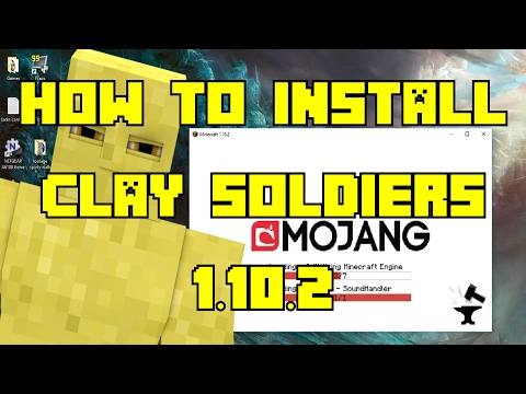 How to Install Clay Soldiers Mod 1.10.2 - Newest Version - Forge!