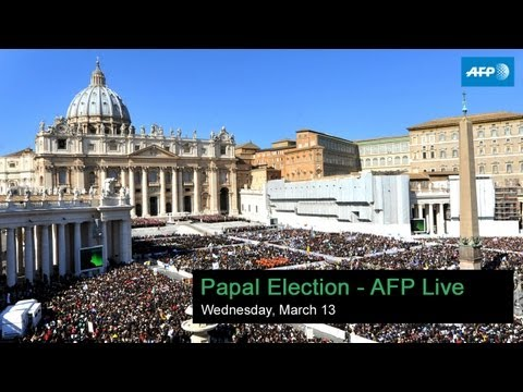 Pope Francis I elected - AFP live - 19:10 GMT
