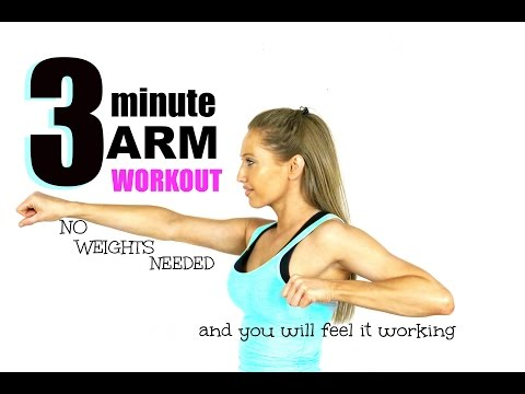 3 MINUTE ARM TONING WORKOUT - No Weights need and you will feel it working