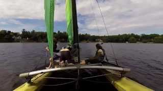 Hobie Cat Sailing on Paradise Lake, Michigan