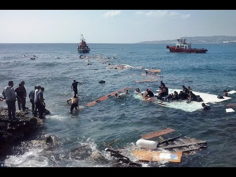 Boat carrying dozens of migrants ran aground on the Greek holiday island of Rhodes