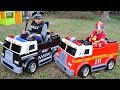Children Play With Fire Truck And Police Truck Funny Videos For Kids Adel Et Sami mp3