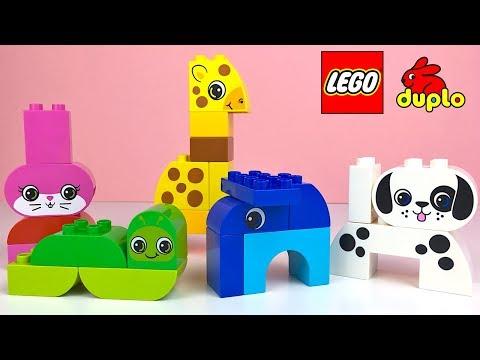 LEGO DUPLO BAUSTEINE MIT TIERE DALMATINER GIRAFFE HASE ELEFANT RAUPE UND SCHNELLER LERNEN SUPER SET