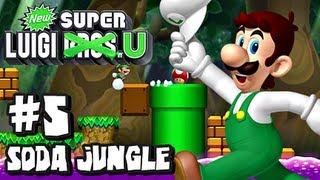 New Super Luigi U (2048p) - Part 5 - Soda Jungle - 5-Airship, 5-1, 5-2, 5-3, 5-Tower, 5-Boo, 5-4