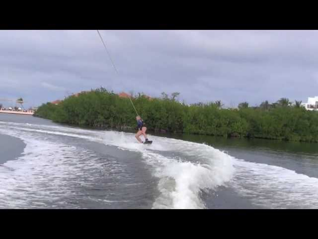 Tanja wake boarding Club Med Cancun 2012