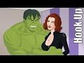 Cartoon Hook-Ups: The Hulk and Black Widow thumbnail