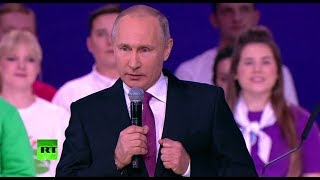Putin answers question if he's going to run for president in 2018