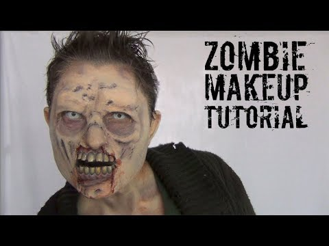 Halloween Zombie SFX Makeup Tutorial! Ultimate Zombie Makeover Part 3!