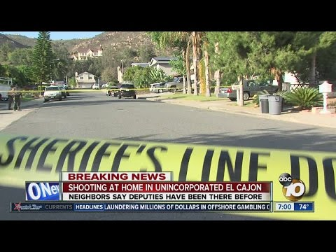 Shooting reported at home in unincorporated El Cajon