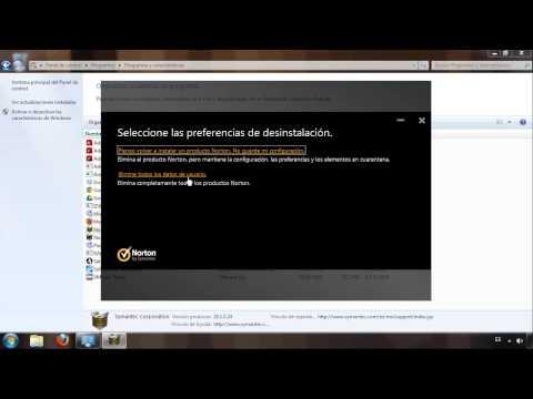 Cómo desinstalar Norton Antivirus