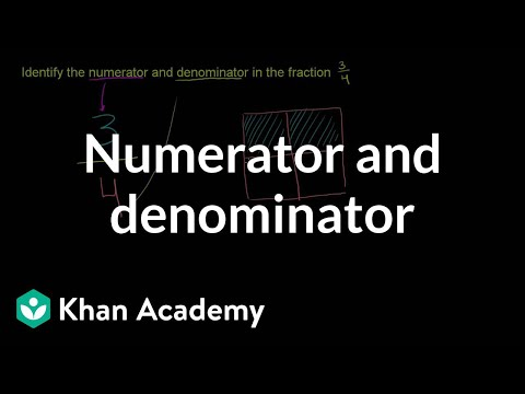 Numerator And Denominator Of A Fraction video