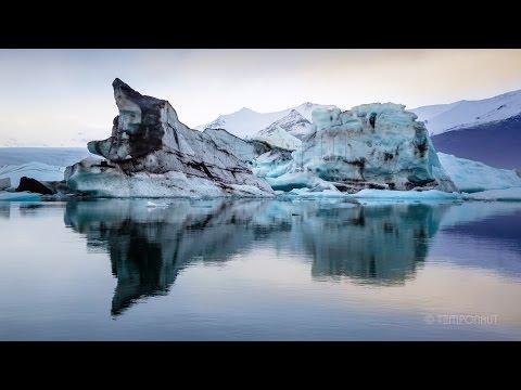アイスランドの氷河のタイムラプス映像