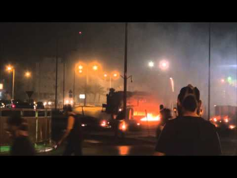 Bahrain: Violent clashes between protesters and riot police in Sita 22.06.2015