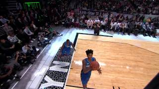 Victor Oladipo Takes the Pass Off the Backboard: 2015 Sprite Slam-Dunk Contest