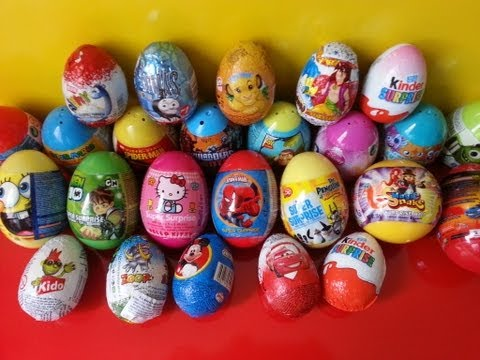 25 Surprise Eggs. Kinder Surprise. Skylanders Giants. Ben 10. Thomas. Spongebob. Spiderman. Disney