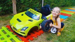 Öykü Arabasıyla Yolda Kaldı - pretend Play toy car mechanic - Funny Oyuncak Avı