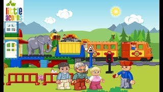 A Color Ride With Duplo Train   Learning Videos For Kids
