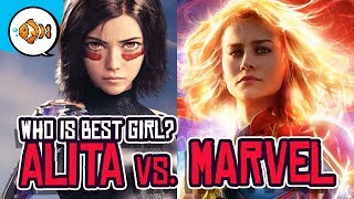 ALITA vs. CAPTAIN MARVEL: Mainstream Media Choosing Best Girl?