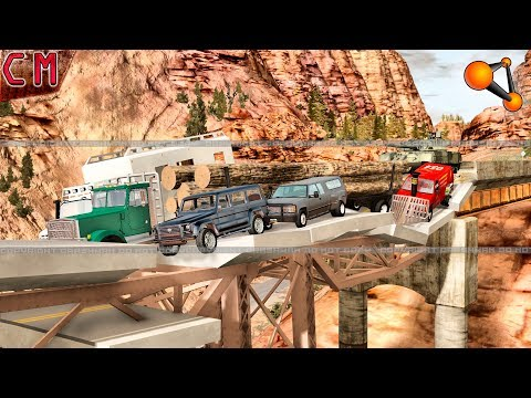 How many cars can sustain a bridge BeamNG Drive