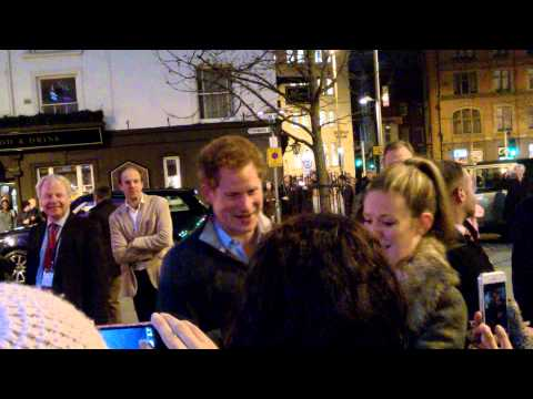 Prince Harry at Cineworld, Nottingham, 3 February 2015