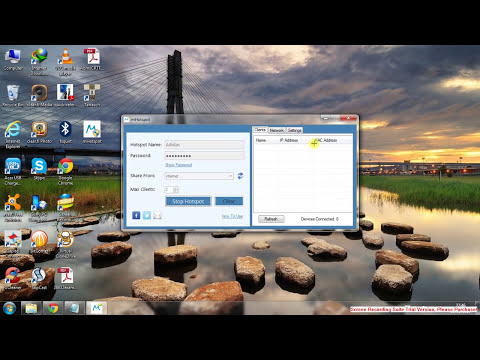 Easily share your PC internet with any device ! (Android, Apple, Win8)