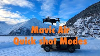 Testing the DJI Mavic Air Quick Shot modes