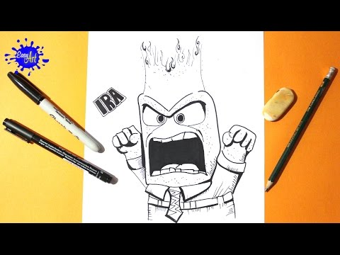 Inside Out l how to draw anger l intensa mente