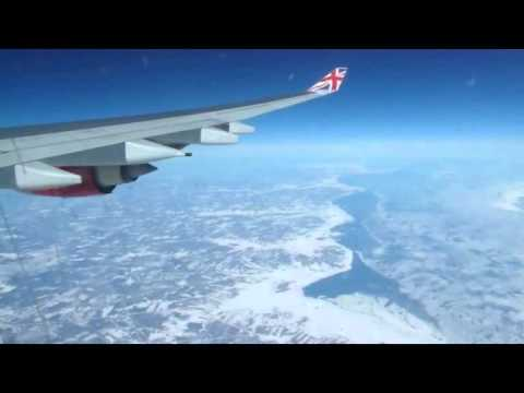 Airline Flight : London Heathrow (LHR) Airport To JFK Airport NYC (USA) : Virgin Atlantic Airbus
