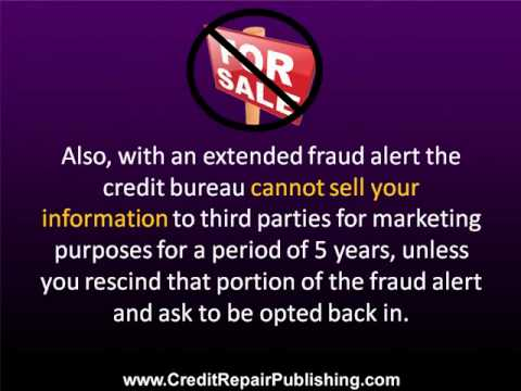 Credit Bureau Fraud Alert - YouTube