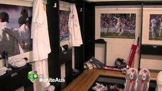 Exclusive tour of Aussie dressing rooms