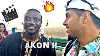 I'M IN A MOVIE WITH AKON😎🖐🏽🔥!! THE AMERICAN KING - Behind The Scenes
