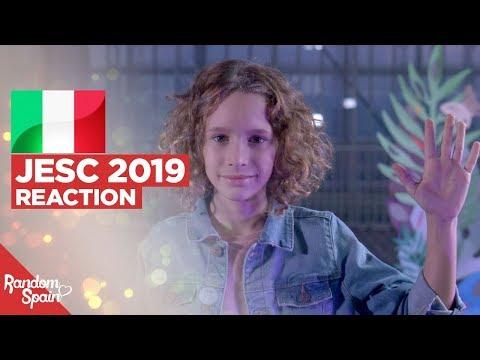 REACTION Marta Viola - La voce della terra | Italia Junior Eurovision 2019