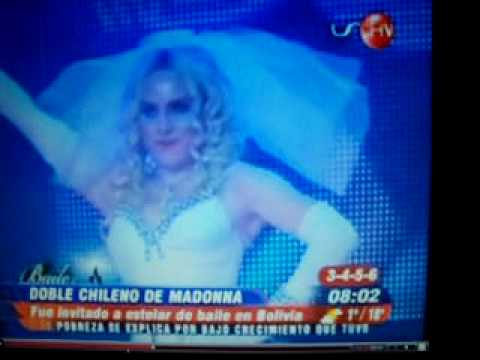DOBLE MADONNA CHILEVISION NOTICIAS CAROLINA BAILY (personator)
