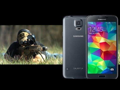 Samsung #GalaxyS5 vs .50 Cal